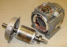 Rotor và stator trong động cơ điện