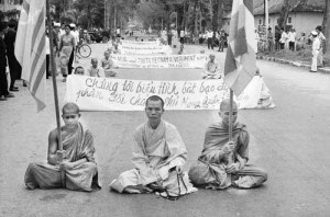 Buddhist Monks at Protest