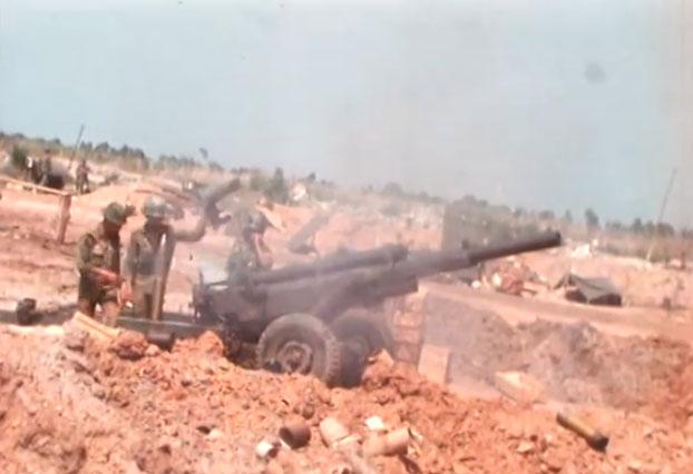Chiến trường An Lộc năm 1972.