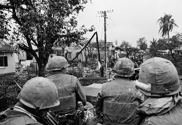U.S. Army Patrol During Offensive on Hue