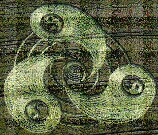 Hình ảnh ba cổ máy quay bên trong dĩa bay